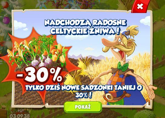 Celtyckie żniwa w osadzie! http://wp.me/p3Ebhr-He #wesołaosada #happytale