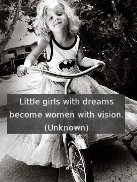 Little girls with dreams become women with vision. #entrepreneur #entrepreneurship