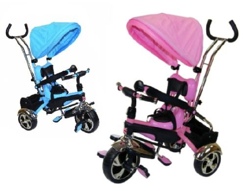 Child Trike Smart 4 in1 Kids Tricycle Pink Blue Smart Bike Parent Handle 3Wheel