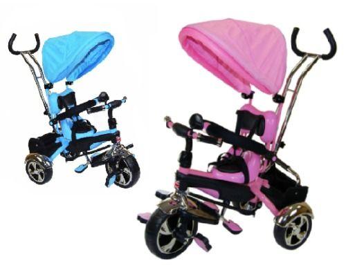 Child Trike Smart 4 in1 Kids Tricycle Pink Blue Smart Bike Parent Handle 3Wheel