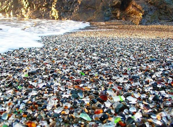 """Cool Beaches Series #2 - """"Glass Beach"""", Redwood Forest Hike, and Food - SF Bay Area Roadtrips (San Jose, CA)."""