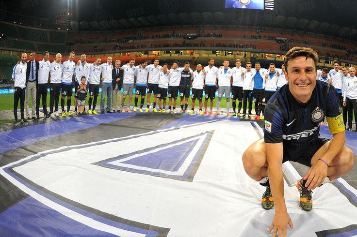 Il nostro Capitano Janier Zanetti, termina la sua carriera all'Inter! Milano , stadio di San Siro 10/5 /2014