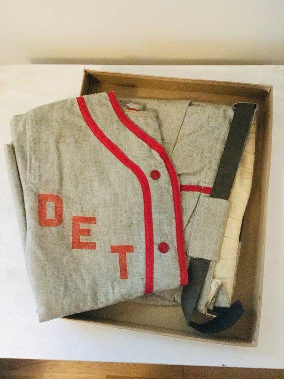 Vintage Yankiboy Detroit Baseball Uniform Costume W Original Etsy In 2020 Detroit Baseball Baseball Uniform Baseball