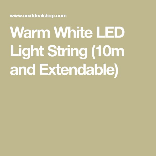 Warm White LED Light String (10m and Extendable)
