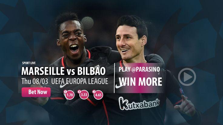UEFA EUROPA LEAGUE  BEST ODDS 25 EURO #FREEBET  #MATCHDAY #PARASINO   #MARISEILLE #BILBAO  https://www.parasino.com/