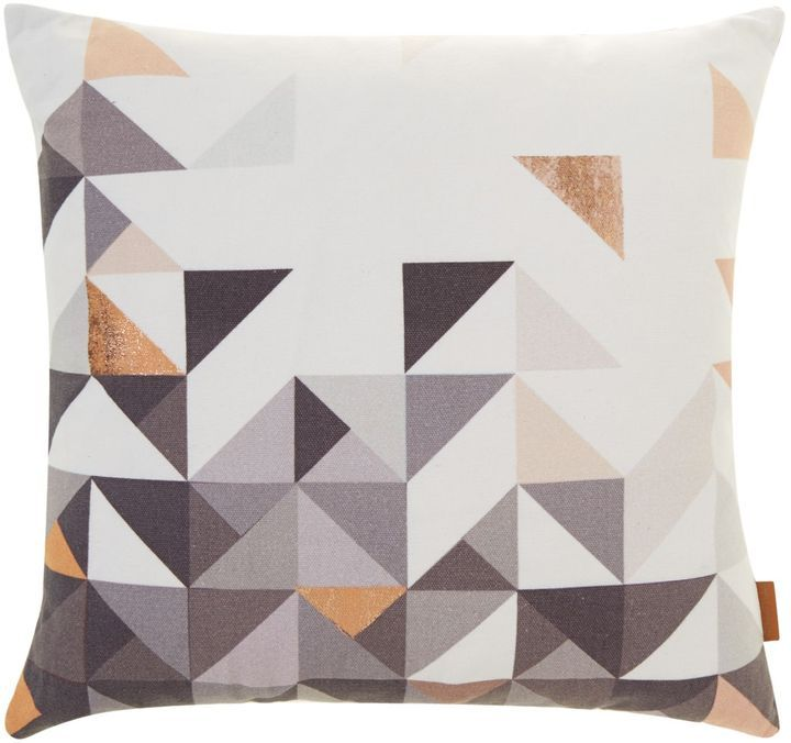 House of Fraser Mumo Paulista copper geometric, velvet backed cushion on shopstyle.co.uk