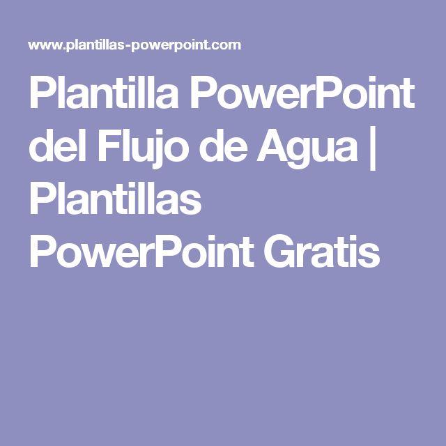 plantilla powerpoint del flujo de agua plantillas powerpoint