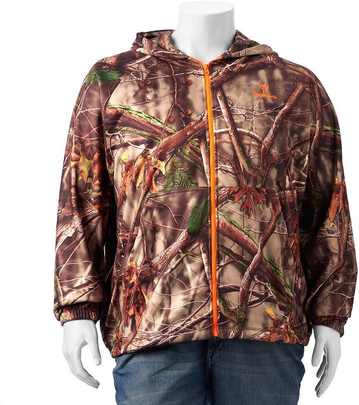 Big & Tall Huntworth Camouflage Hooded Jacket