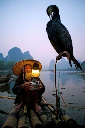 The Beauty of Fishing on Li River At Guilin in China by 4Time2Fun