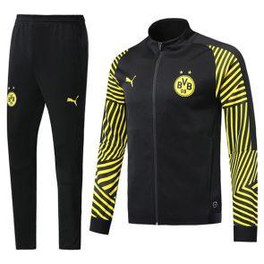 Chándal Borussia Dortmund 2018 2019 Negro(Mangas Rayadas)  96f3116346963