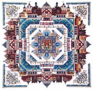 The Medieval Town Mandala (cross stitch & specialty)