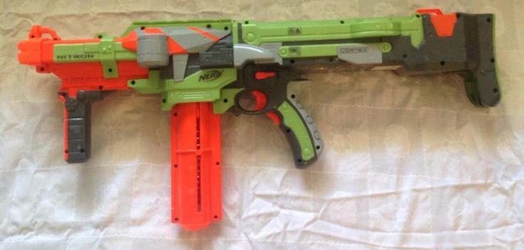 Nerf Deploy CS-6 Rifle and Zombie Strike Pistol, one cartridge and darts #Nerf
