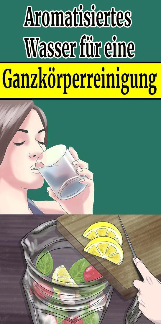 Aromatisiertes Wasser für eine Ganzkörperreinigung