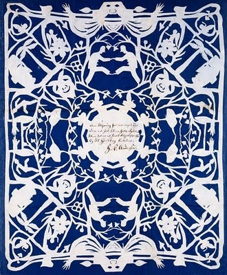 Paper cutting by Hans Christian Anderson - waaaaay before your time Rob Ryan :)  Though I still love Rob Ryan's things....