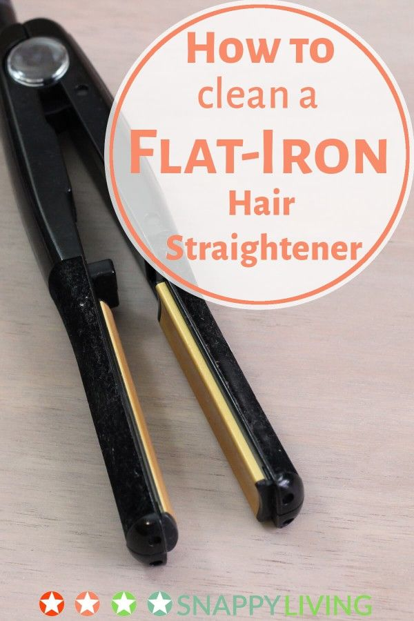 how to clean flat iron with relaxer