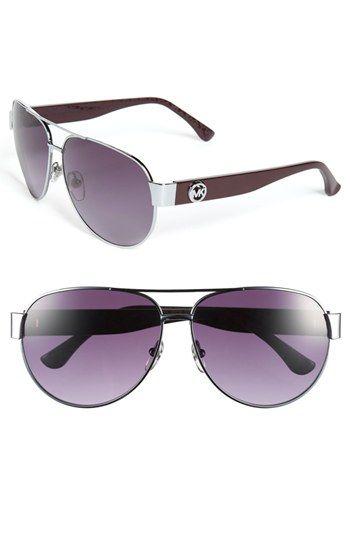 MICHAEL Michael Kors 'Reese' 60mm Metal Aviator Sunglasses available at #Nordstrom