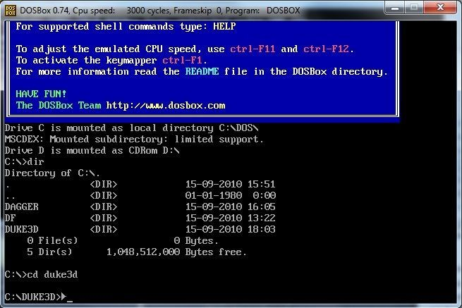 DOSBox is a little utility that can emulate a full x86 computer, in order for you to play old DOS games. This will allow you to play older games on a modern PC with a modern operating system, without too much struggle.