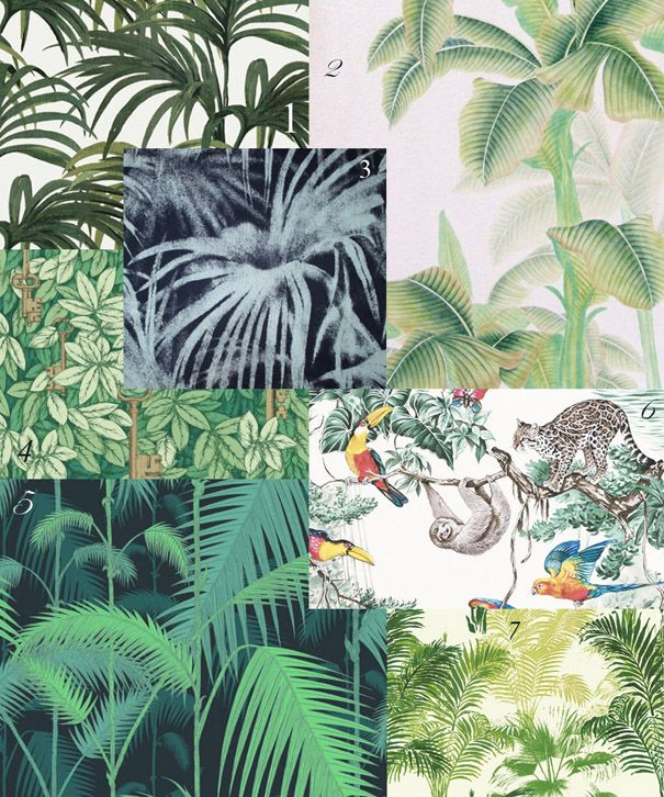 WELLCOME TO THE JUNGLE 1 | Palmeral Luxury , col. White/Green | by House of Hackney 2 | Tropical , collection Asia | by Mish...