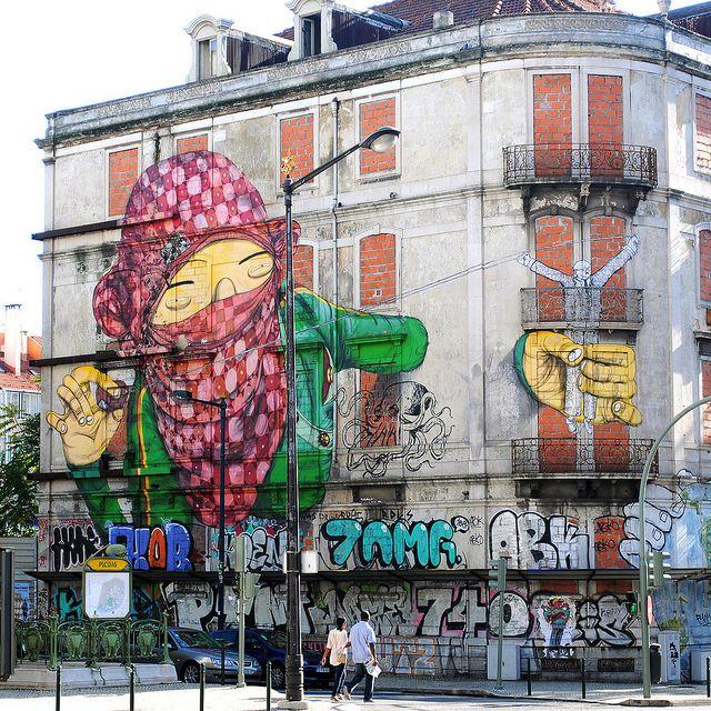 #streetart #portugal #lisbon #blu