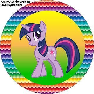 My Little Pony Cores Fortes - Kit Completo com molduras para convites, rótulos para guloseimas, lembrancinhas e imagens!