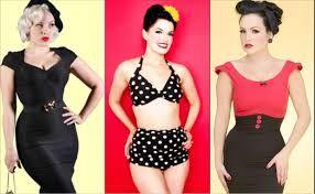 Afbeeldingsresultaat voor zandloperfiguur kleding jaren 50 60