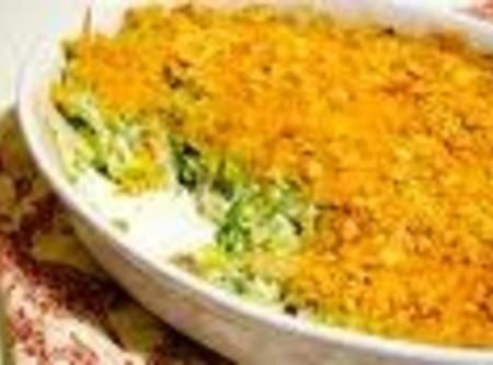 Aunt Pams Brocolli Cheese Cassarole Recipe--Made this for Thanksgiving, Delicious !! Used 3 Steamables frozen vegs. and 1- 8 oz. cheese.