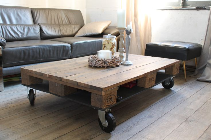 22 best pallet coffee table images on pinterest pallet coffee tables wooden pallets and. Black Bedroom Furniture Sets. Home Design Ideas
