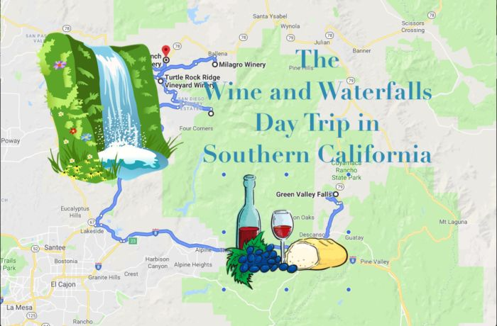Experience Delicious Wine And Beautiful Waterfalls On This Southern California Day Trip Trip Southern California Beautiful Waterfalls