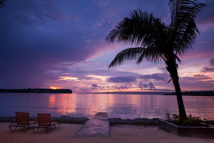 Beautiful South Pacific Sunsets.  Iririki Island Resort, Vanuatu  www.islandescapes.com.au