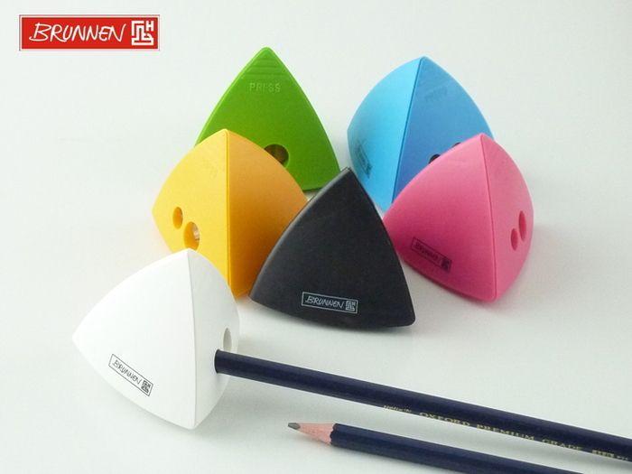 ドイツ ブルンネン社のピラミッド型の鉛筆削りは、ポップな色がとってもかわいい!