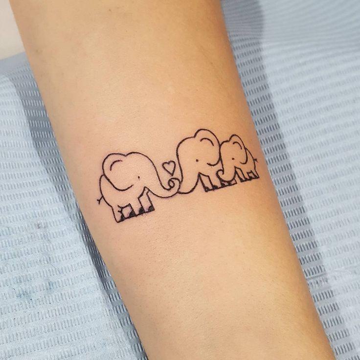 Nenhuma descrição de foto disponível. | Tatuagem família elefante, Tatuagem fina, Tatuagem elefante