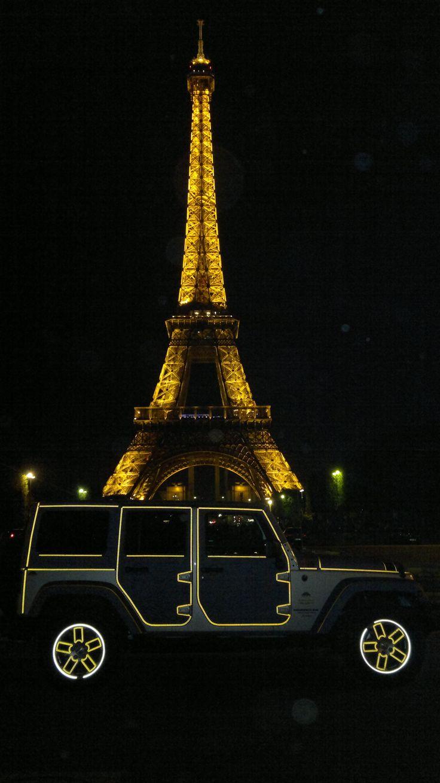 jeep wrangler in jeans Printer a Parigi