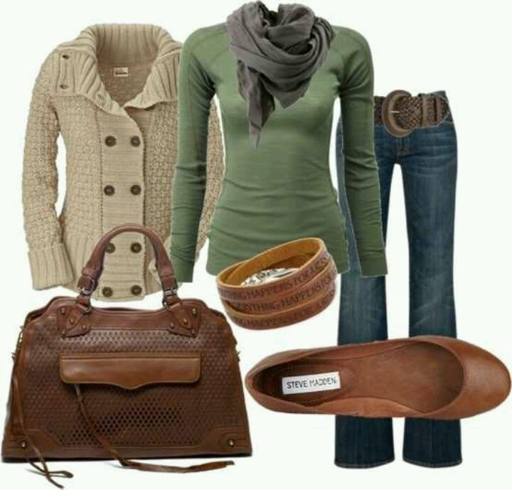 .Nice fall outfit.
