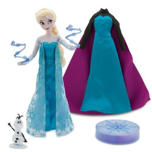 Disney Elsa Frozen Doll that Sings will delight any little girl for hours. Little girl can re-create scenes from the movie Frozen and sing along with Elsa.