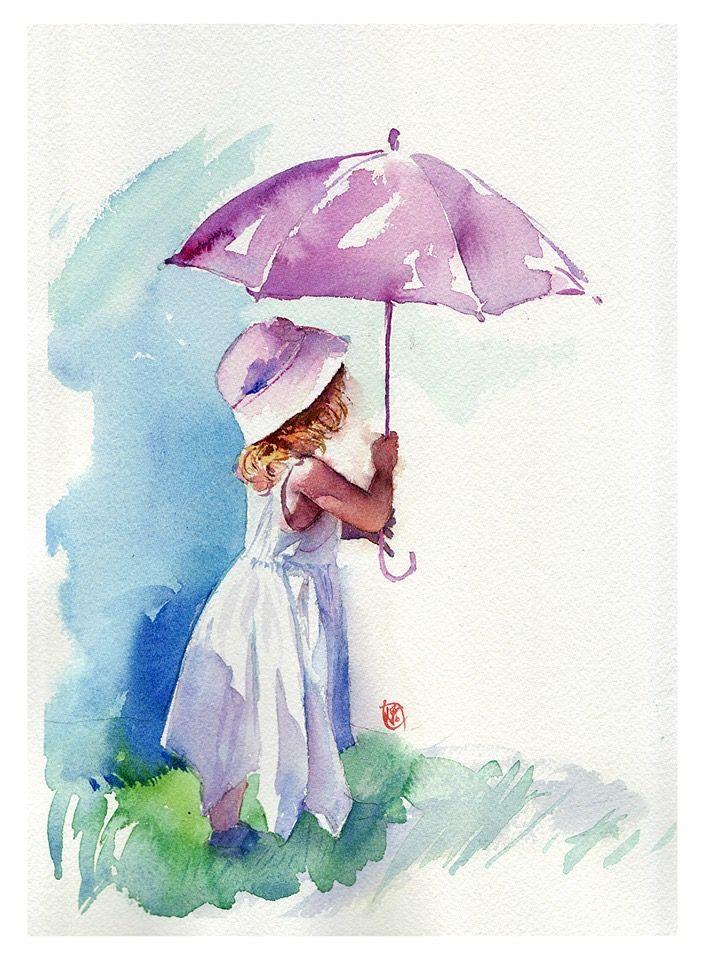 Pin By Roya On Aquarelle Et Encre Watercolor Illustration Watercolor Art Prints Watercolor Art