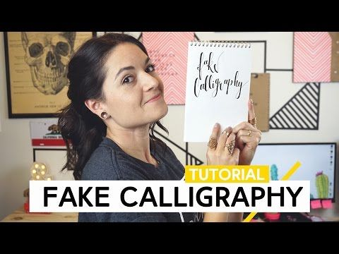 Fake Calligraphy | Tutorial by Aline Albino - YouTube
