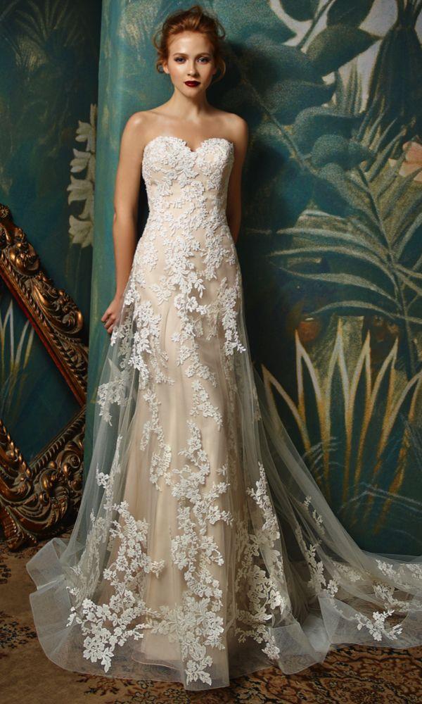 Jilly, Blue by Enzoani #weddingdress