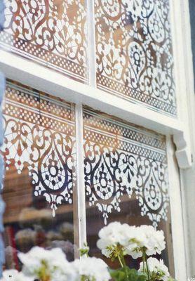 Decoración de ventanas, sustituyendo cortinas
