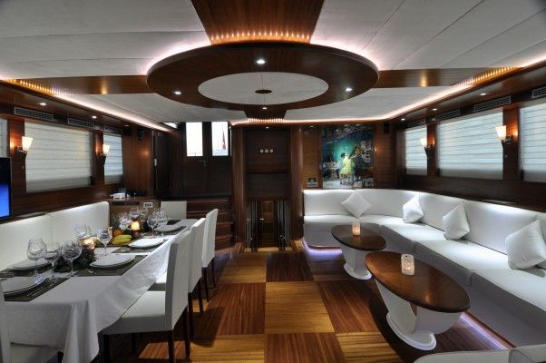 Luxury gulet Dolce Mare - indoor dining & lounge | by Durukos Yachting