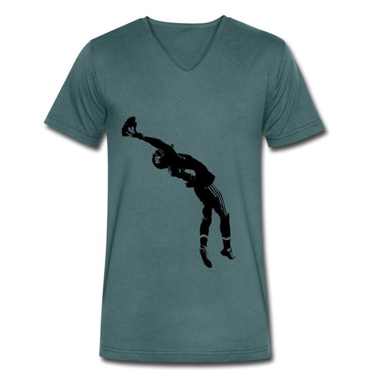 40B Arts The Catch V-Neck T-Shirt aus Bio-Baumwolle by 40 Burger // Finest Football & Fashion. #americanfootball #football #lof #40b #nfl #rannfl #t-shirt #tshirt #v-neck #vneck #organiccotton #bio #biobaumwolle #catch #streetwear