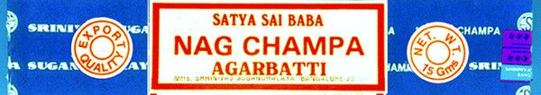 Nag Champa Meditation Incense - 15g boxes - by Satya Sai Baba from MyBohemiaJewelry
