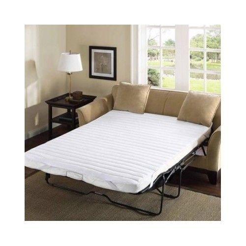 Comfort Classics White Microfiber Sofa Bed Mattress Pad 60 X 72 Inch Queen Size