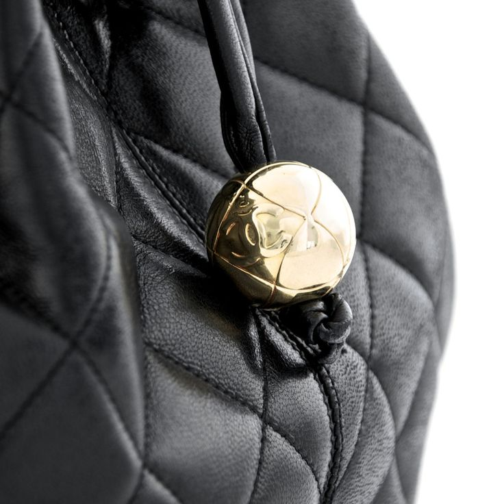 Chanel Black Quilted Calfskin Drawstring Bucket Bag