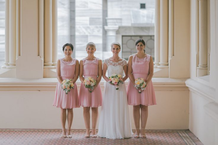 Beautiful Philippa wearing her custom gown based on #Albertine by Sally Eagle. Her lovely bridesmaids wearing #Charlotte by Sally Eagle too! #bridal #weddingdress #bridesmaids #sallyeaglebridal #lace #vintage #designer Photo Credit: Sarah Baker Photography