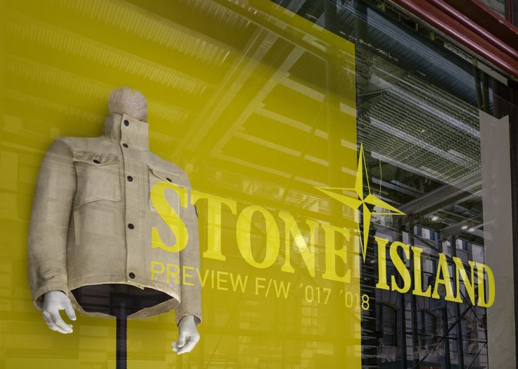 STONE ISLAND @ KITH SOHO  F/W PREVIEW_ GARMENT DYE YELLOW INSTALL 07.14-8.17 2017
