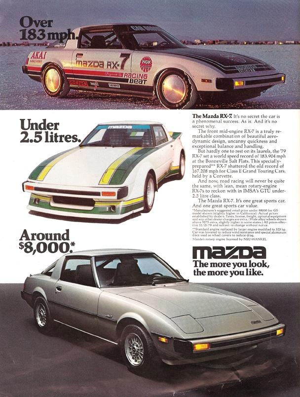 MAZDA car review 2015 1980's Mazda RX 7, We had a Silver one just like this and…