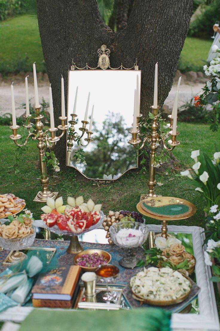 Persian ceremony in Rome for our Canadian couple. Beautiful display in gold and…