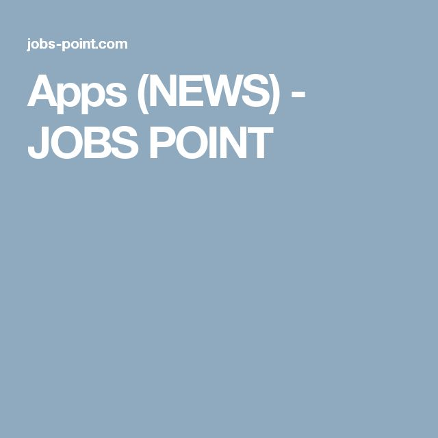 Apps (NEWS) - JOBS POINT