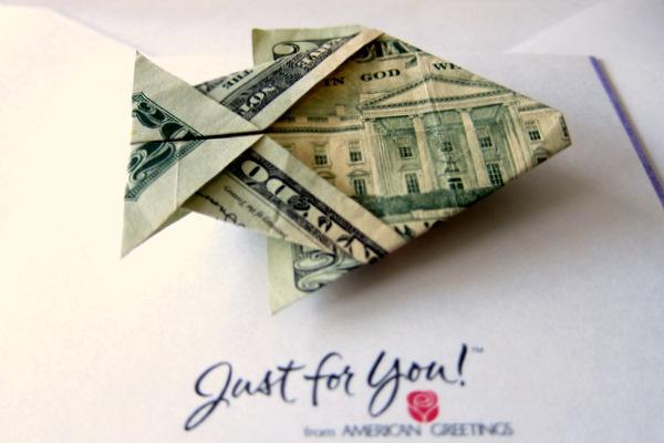 Dollar Bill Origami: Fish