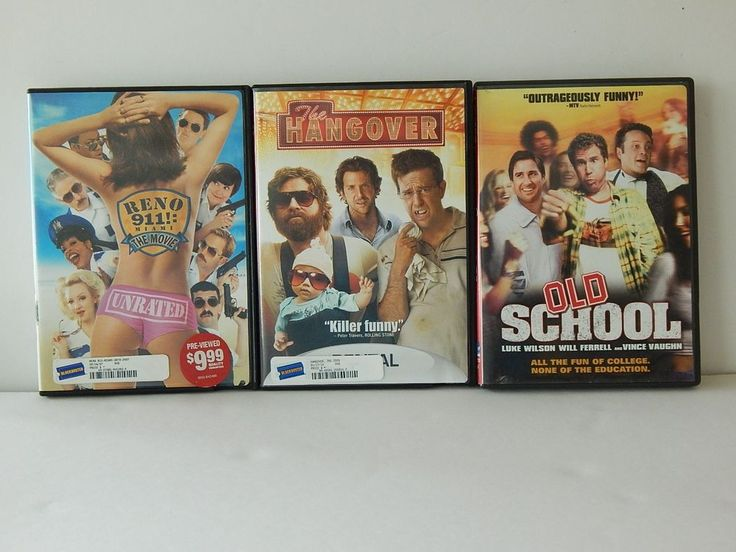 Lot of 3 Comedy DVDs The Hangover RENO 911 Miami The Movie Old School Very Funny
